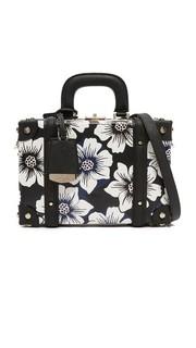 Объемная сумка в форме ларца с короткими ручками и цветочным рисунком Kate Spade New York