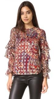 Блуза с оборками Haute Hippie