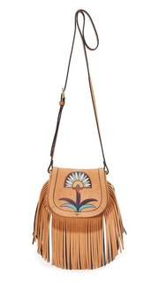 Миниатюрная седельная сумка Lilium с аппликацией Tory Burch