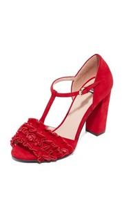 Туфли на каблуке с открытым носком Boutique Moschino
