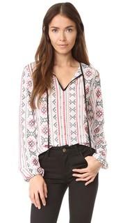 Блуза с вышивкой English Factory