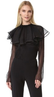Блуза со съемным воротником Nina Ricci