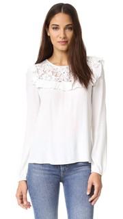 Блуза с кружевной кокеткой Magnolia Wayf