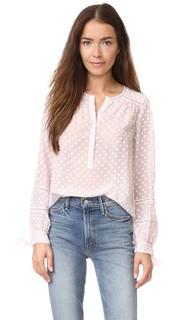 Блуза Box Clip с длинными рукавами Rebecca Taylor