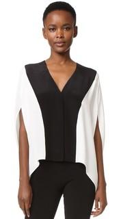 Блуза в стиле пончо с V-образным вырезом Derek Lam