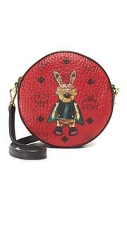 Сумка в виде бубна с изображением кроликов MCM