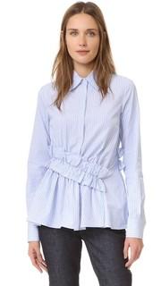Рубашка с оборками на талии Victoria Victoria Beckham