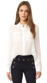 Блуза с карманами-заплатками Veronica Beard