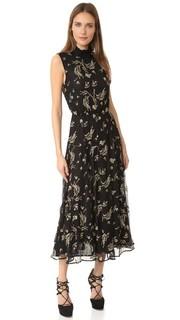 Платье с вышивкой и оборками Suno