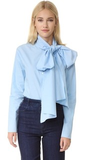 Рубашка с завязками в стиле шарфа Suno