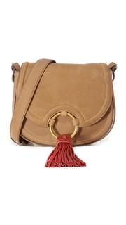 Миниатюрная седельная сумка с кисточкой Tory Burch