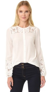 Блуза Alma с вышивкой на рукавах Veronica Beard