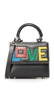 Эксклюзивная маленькая сумочка Alex с надписью «Love» les Petits Joueurs