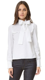 Блузка с воротником-галстуком RED Valentino