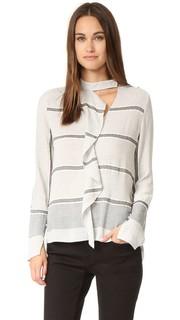 Блуза с оборками и длинными рукавами Derek Lam 10 Crosby
