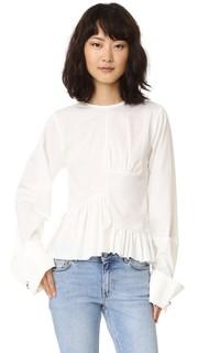 Блуза с оборками и свободными манжетами Marques Almeida