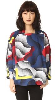 Блуза Clouds из ткани в рубчик Kenzo