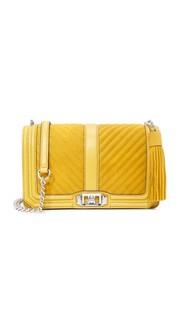 Замшевая сумка через плечо Love Rebecca Minkoff