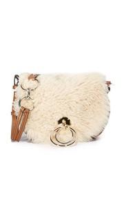 Седельная сумка Love Power с короткой шерстью Diane von Furstenberg
