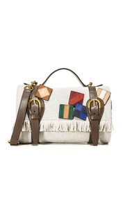 Объемная сумка Mini Blanket из шерсти Tory Burch