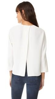 Блуза с открытой спиной и округлым вырезом Vince