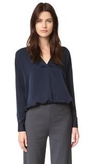 Блуза с перекрещенным V-образным вырезом Vince