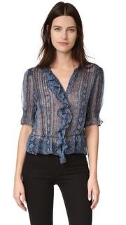 Блуза с принтом под змею Rebecca Taylor