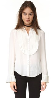 Блуза с оборками и защипами Free People