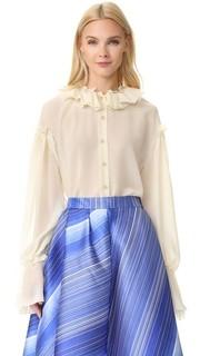Оборчатая блуза Vika Gazinskaya