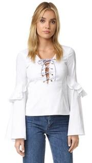 Блуза Anastasia на шнуровке Caroline Constas
