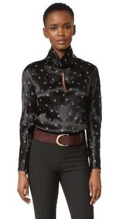 Атласная блуза Nina Ricci
