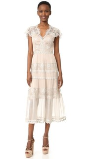 Платье Gwyneth из шелкового шифона и металлизированного кружева Catherine Deane