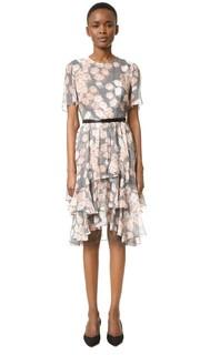Платье с короткими рукавами и цветочным рисунком Jason Wu