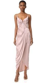 Длинное замшевое платье с драпировкой Zimmermann