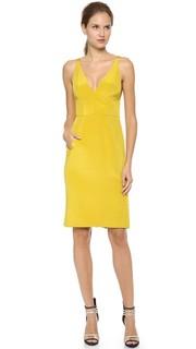 Платье без рукавов с V-образным вырезом J. Mendel