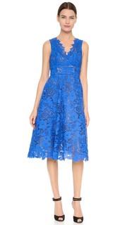 Гипюровое платье ниже колен Monique Lhuillier