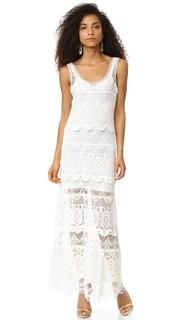 Макси-платье с кружевными слоями Haute Hippie