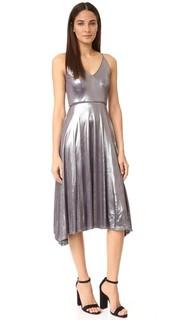 Миди-платье с ремешками и V-образным вырезом Halston Heritage