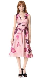 Платье с V-образным вырезом Lela Rose