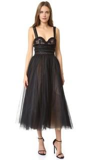 Расклешенное коктейльное платье Marchesa