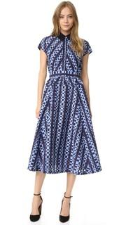 Платье-рубашка с поясом Lela Rose
