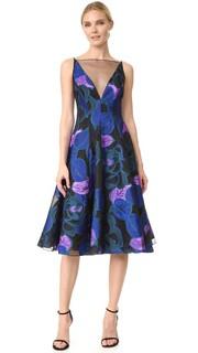 Платье с V-образным вырезом и широкой юбкой Lela Rose