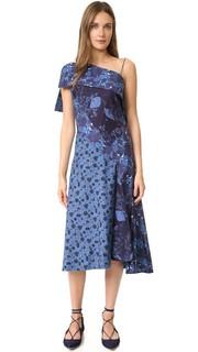 Платье с открытым плечом Zac Posen