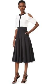 Платье с округлым вырезом и расклешенной юбкой J. Mendel
