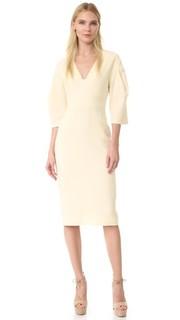 Платье с широкими рукавами Lela Rose