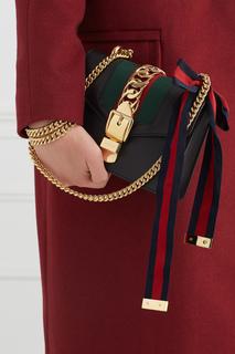 Кожаная сумка Sylvie Mini Gucci