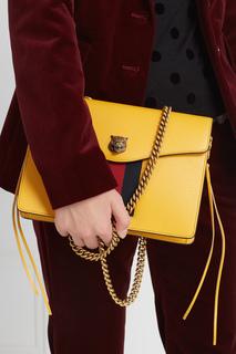 Кожаная сумка Animalier Gucci