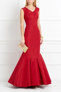 Шелковое платье Zac Posen