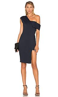 Платье с асимметричными шлейками - Michelle Mason