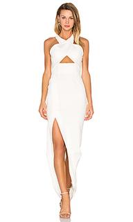 Вечернее платье из понти с перекрестными шлейками event - NICHOLAS